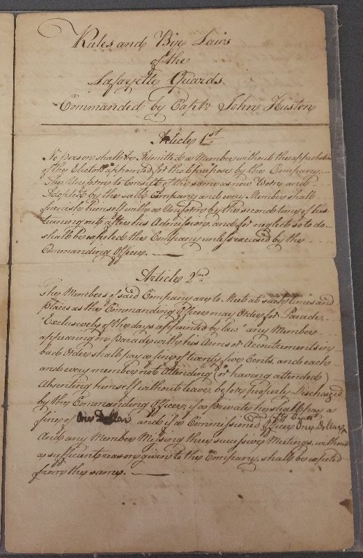 """Paper document """"Rules and By-Laws of the Lafayette - 2"""