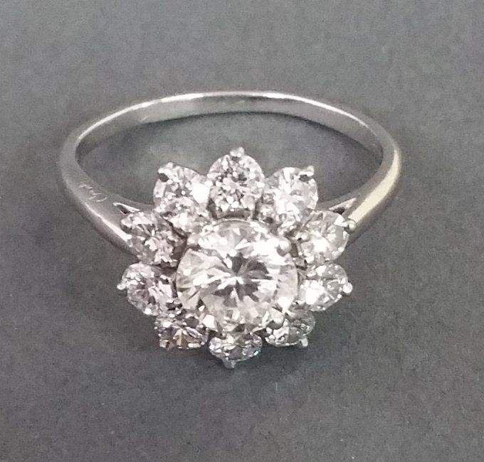 Cartier Platinum diamond cocktail ring