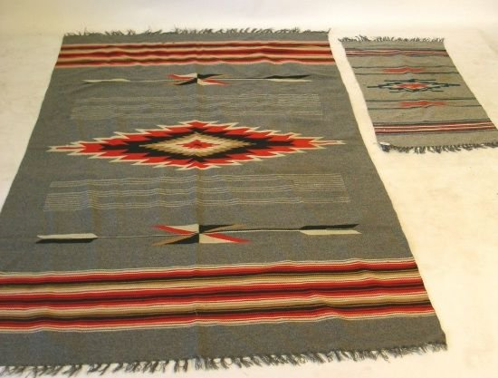 """40: Two Indian rugs. 49""""x81"""" & 38""""x19"""""""