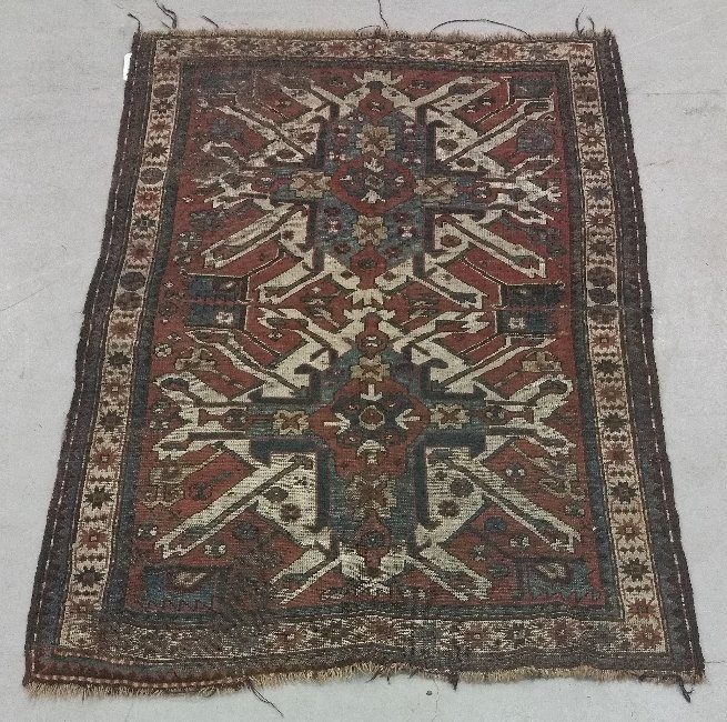 Double eagle Kazak oriental mat.  6 feet 7 inches x 4