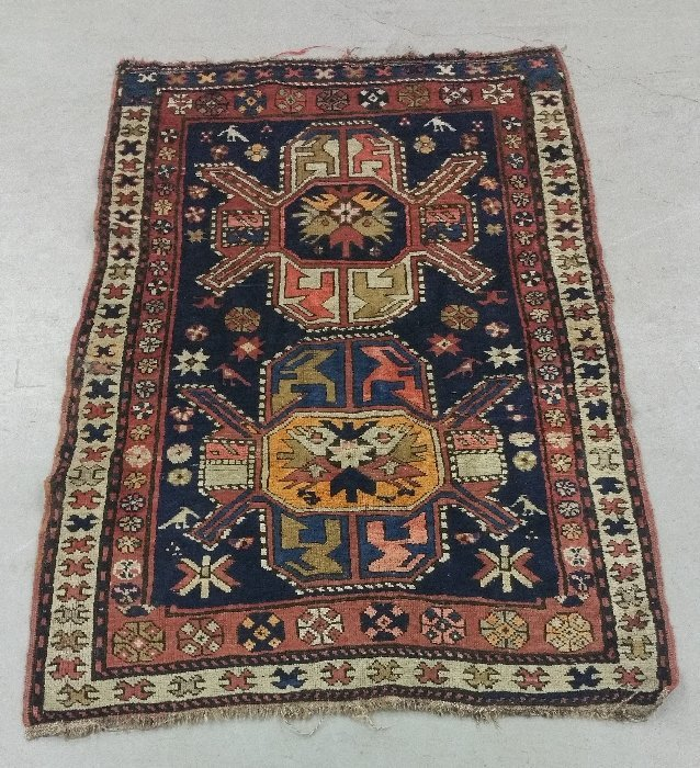 Tribal geometric pattern mat  5 feet 2 inches x 3 feet