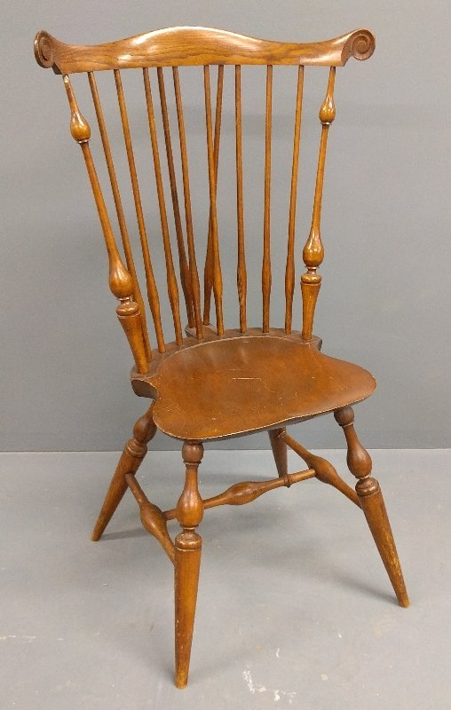 Signed Wallace Nutting Windsor side chair. 44 inches