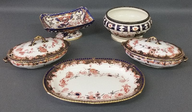 Five pieces of Royal Crown Derby of assorted patterns,