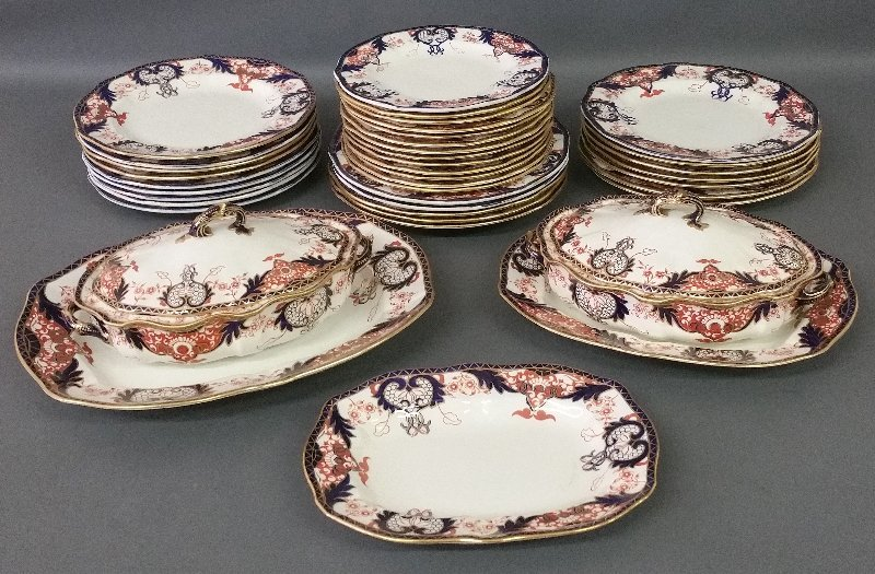 Assembled set of Royal Crown Derby including covered