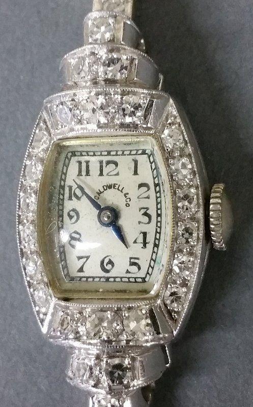 14k white gold ladies' wrist watch by J.E. Caldwell