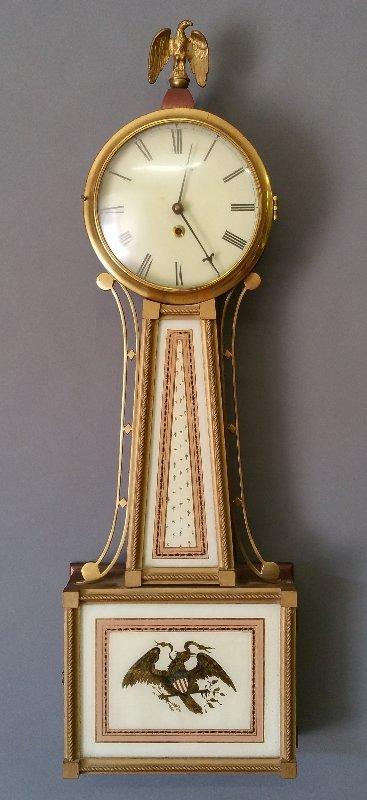 Willard style banjo clock, made by Natt M. Emery, Jr.,