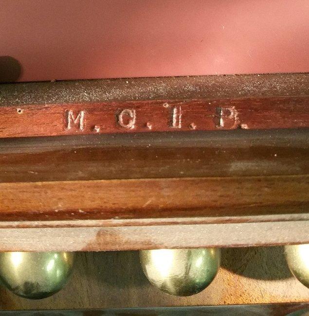 E.O. (Elmer) Stennes mahogany Presentation banjo clock, - 4
