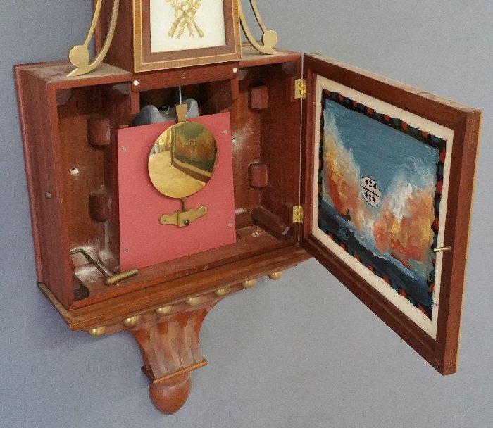 E.O. (Elmer) Stennes mahogany Presentation banjo clock, - 6