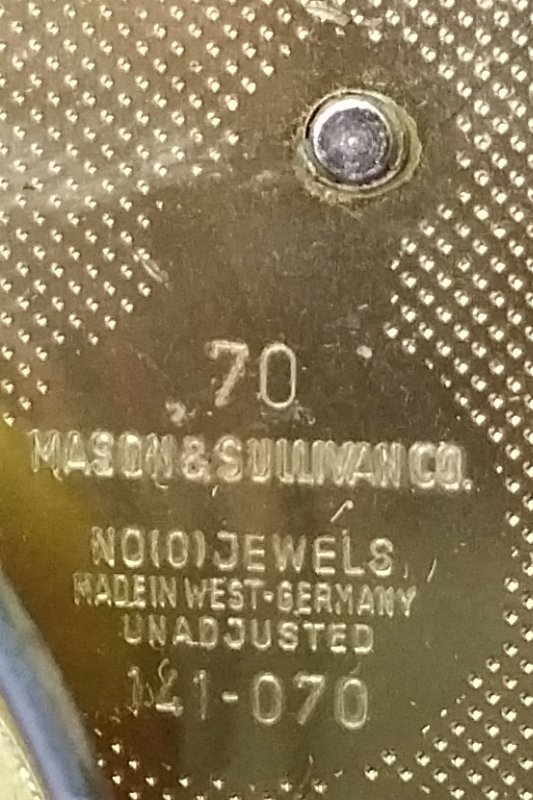 Mahogany cased bracket clock made by Natt M. Emery, - 3