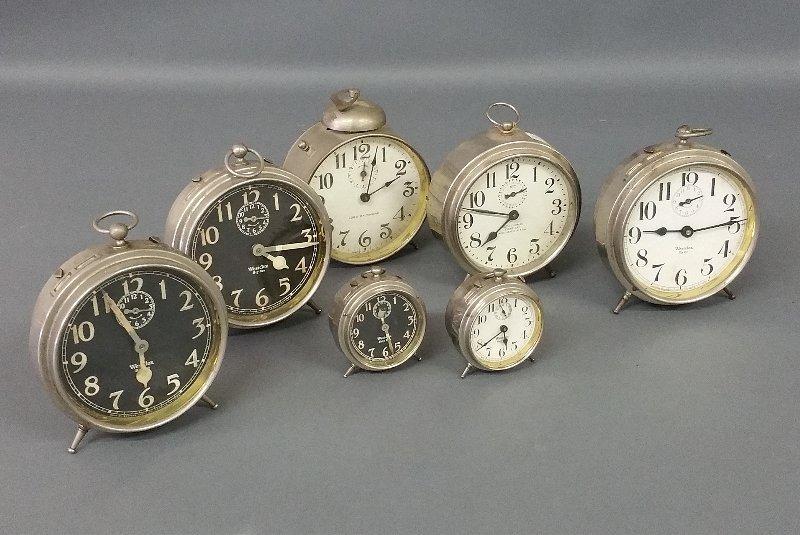 Three Westclox Big Ben alarm clocks, a Lord Baltimore,