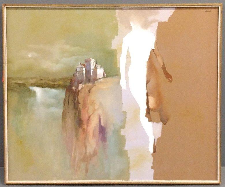 Ruggles, Elizabeth H. [American, 1915-2013] oil on