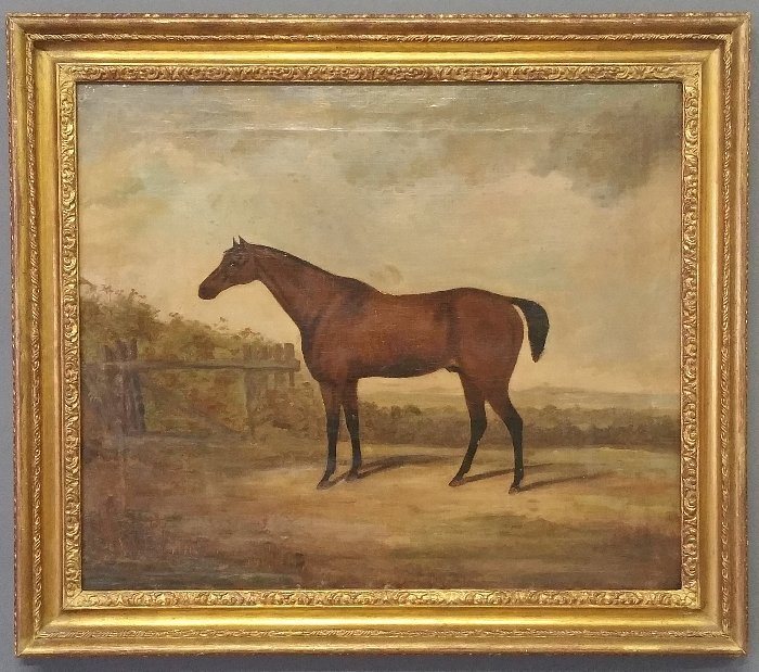 English oil on canvas equine portrait, late 19th c. - 2