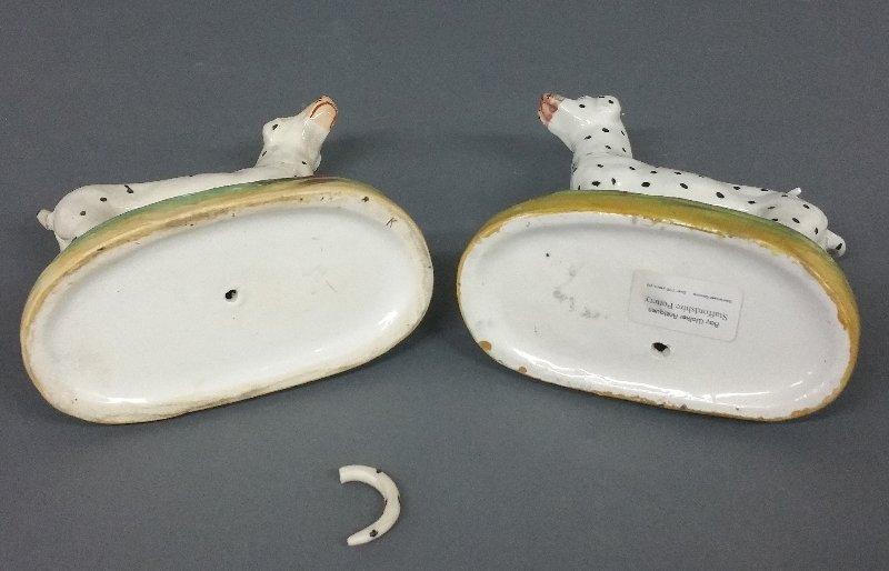 Two similar Staffordshire Dalmatians, c. 1870, Kent - 2
