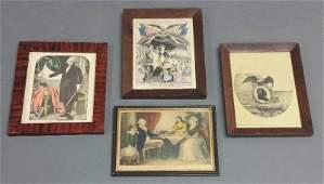 Four Washington prints Currier  Ives Washington