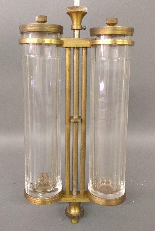 Large two-glass cylinder mercury pendulum, c. 1910. 45 - 2