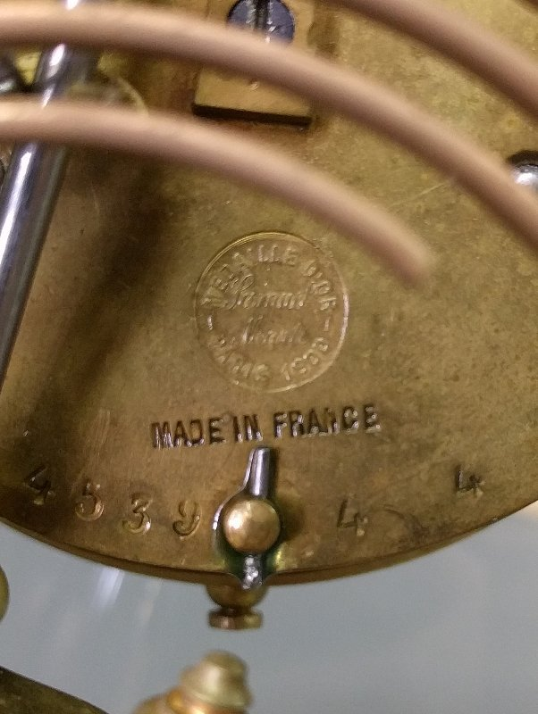 Gilbert brass cased crystal regulator mantle clock, 9 - 2