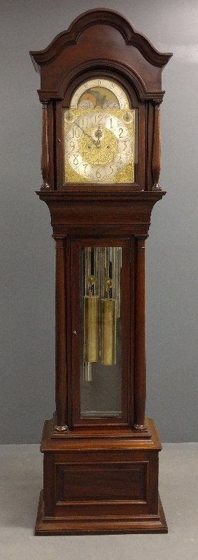 J.E. Caldwell & Co. mahogany tall case clock with five