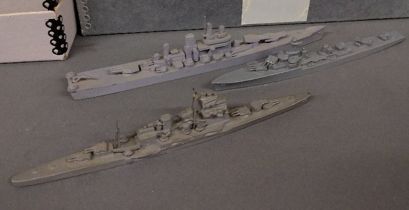 Large grouping of lead waterline WWII recognition model - 2
