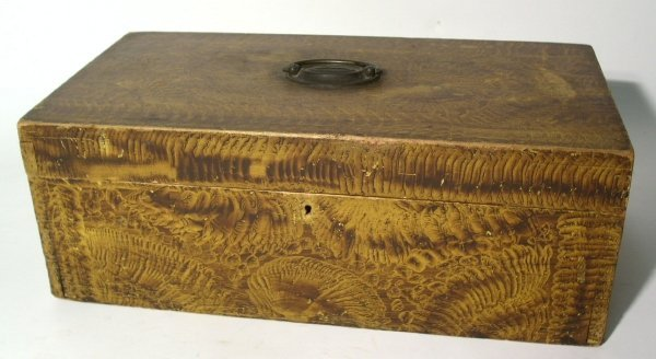 18: Penna. storage box, early 19th c., with stipple pai