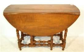 263 Curly maple gateleg dropleaf table 275hx422