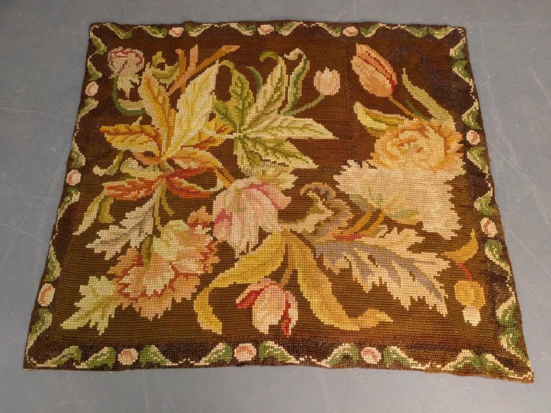 Floral woolwork carpet