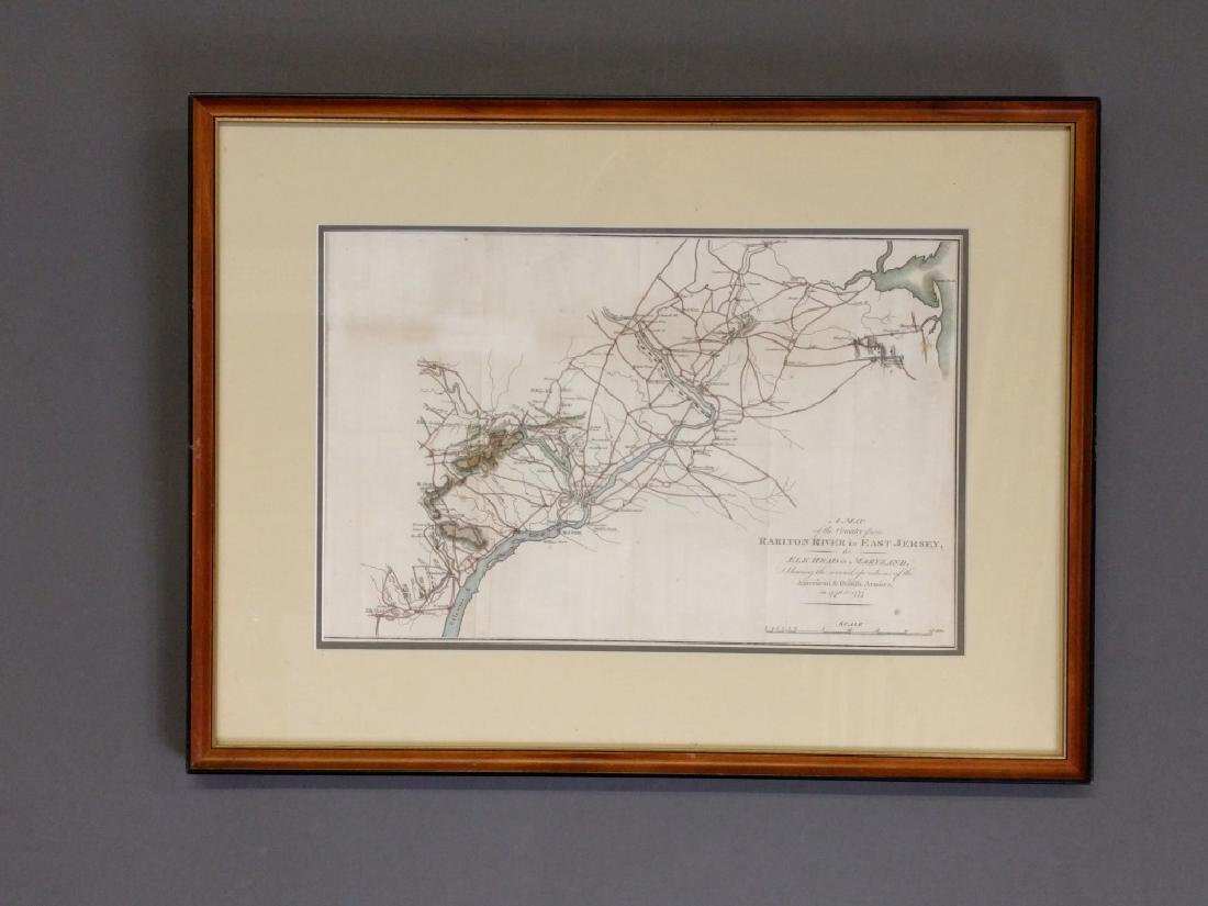 Framed and matted map