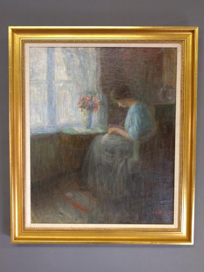Oil on canvas portrait
