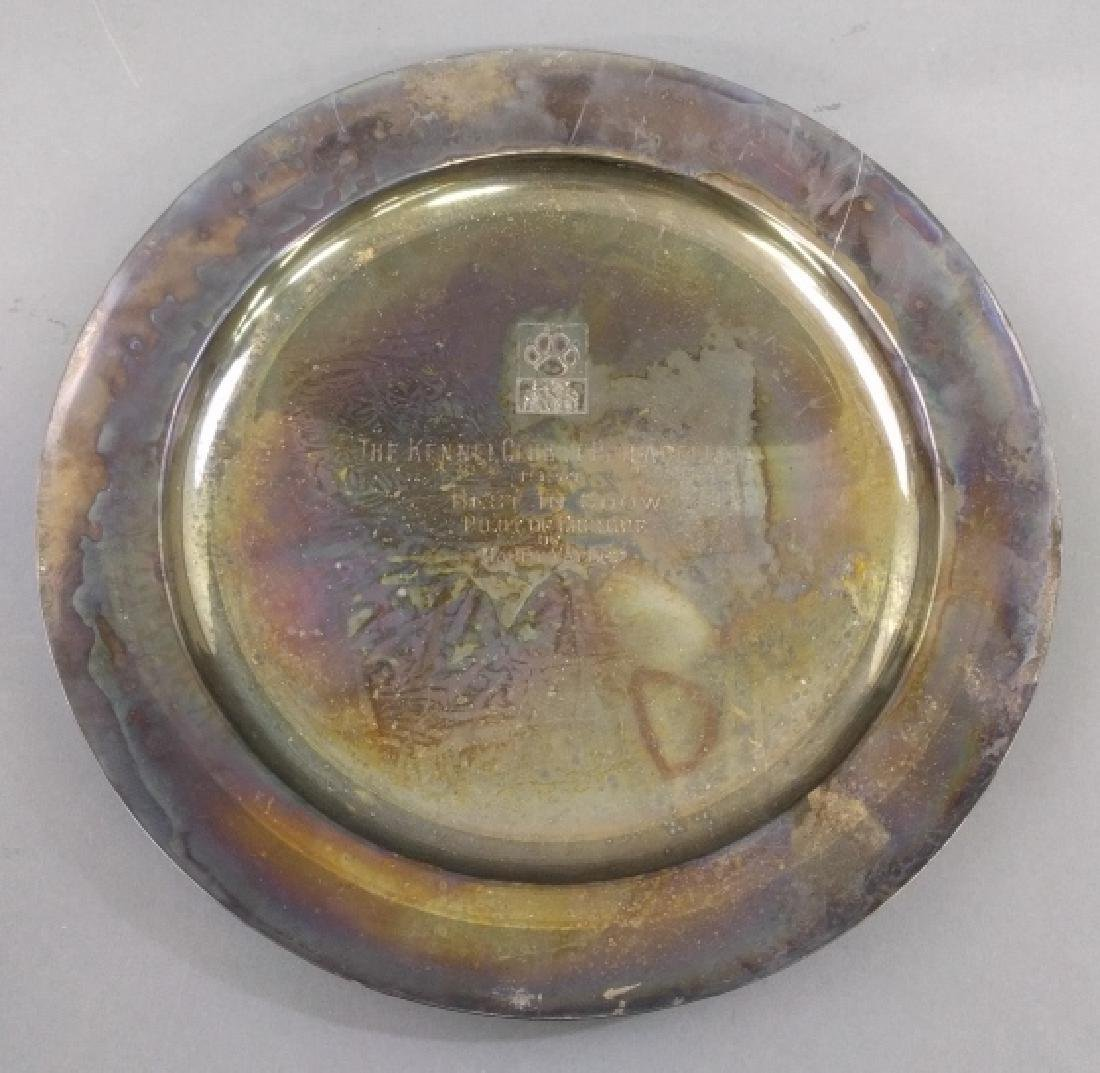 Sterling silver trophy plate