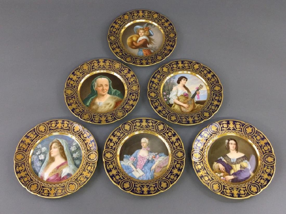 Set of Dresden service plates
