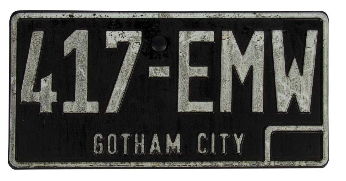 """Batman"" Gotham City Prop License Plate."
