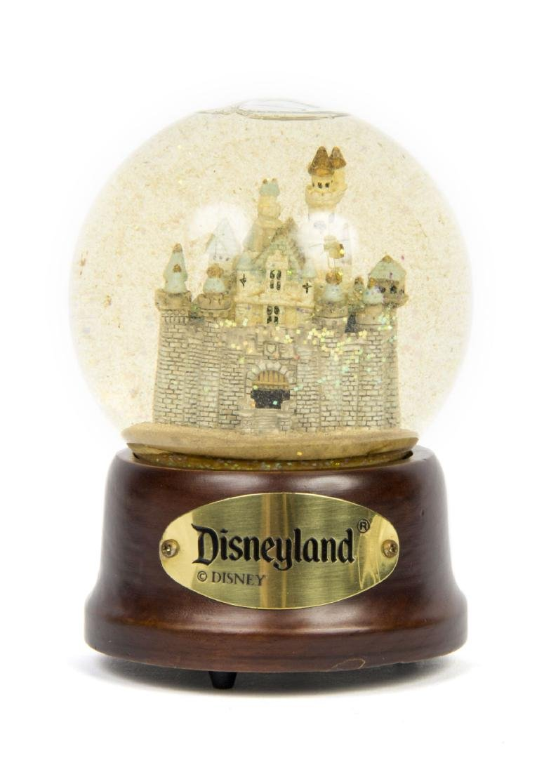 Disneyland Castle Musical Snow Globe.