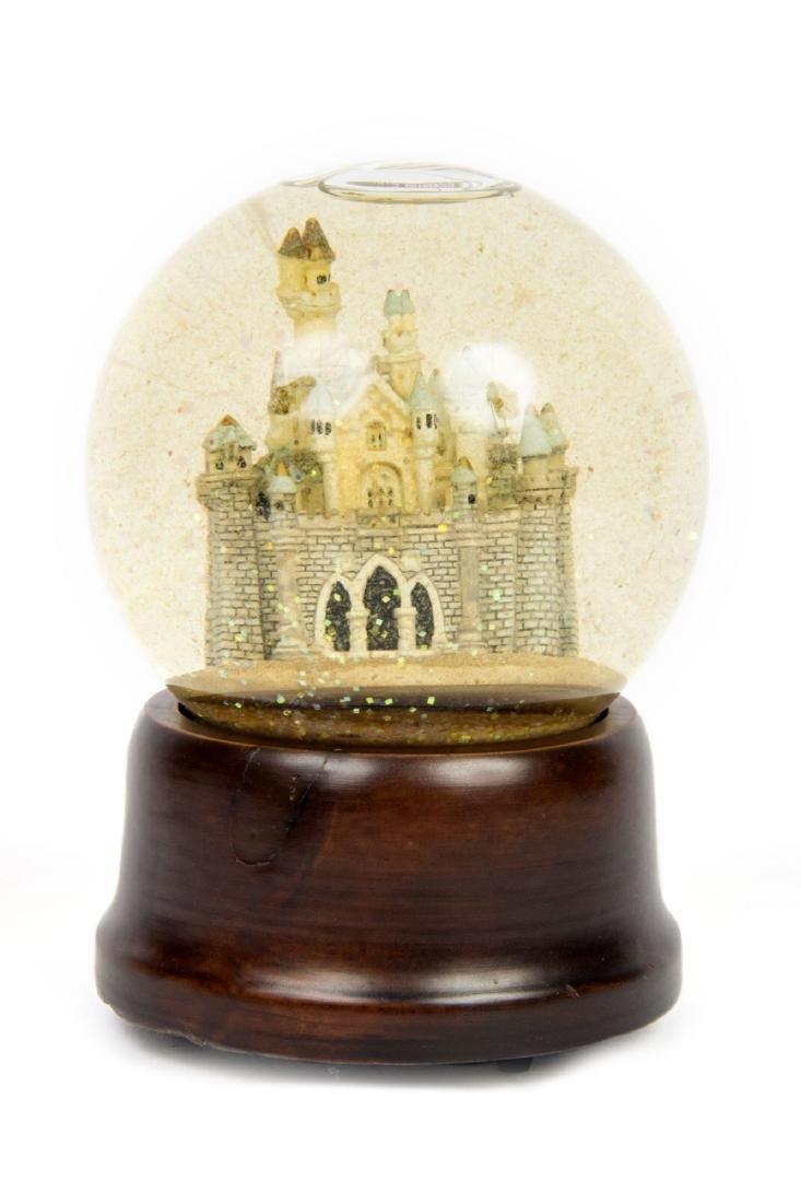 Disneyland Castle Musical Snow Globe. - 2