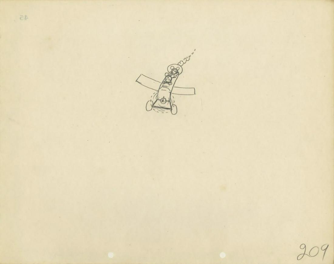 Original Plane Crazy Production Drawing.