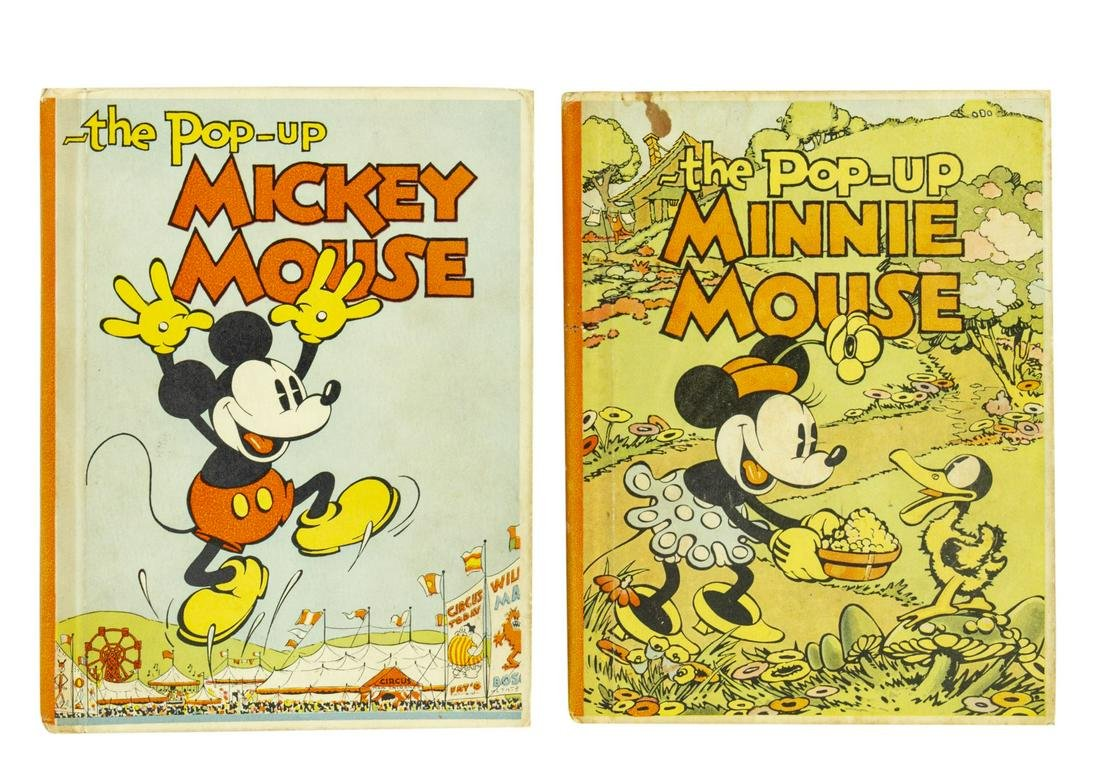Pair of Mickey & Minnie Mouse Pop-Up Books.