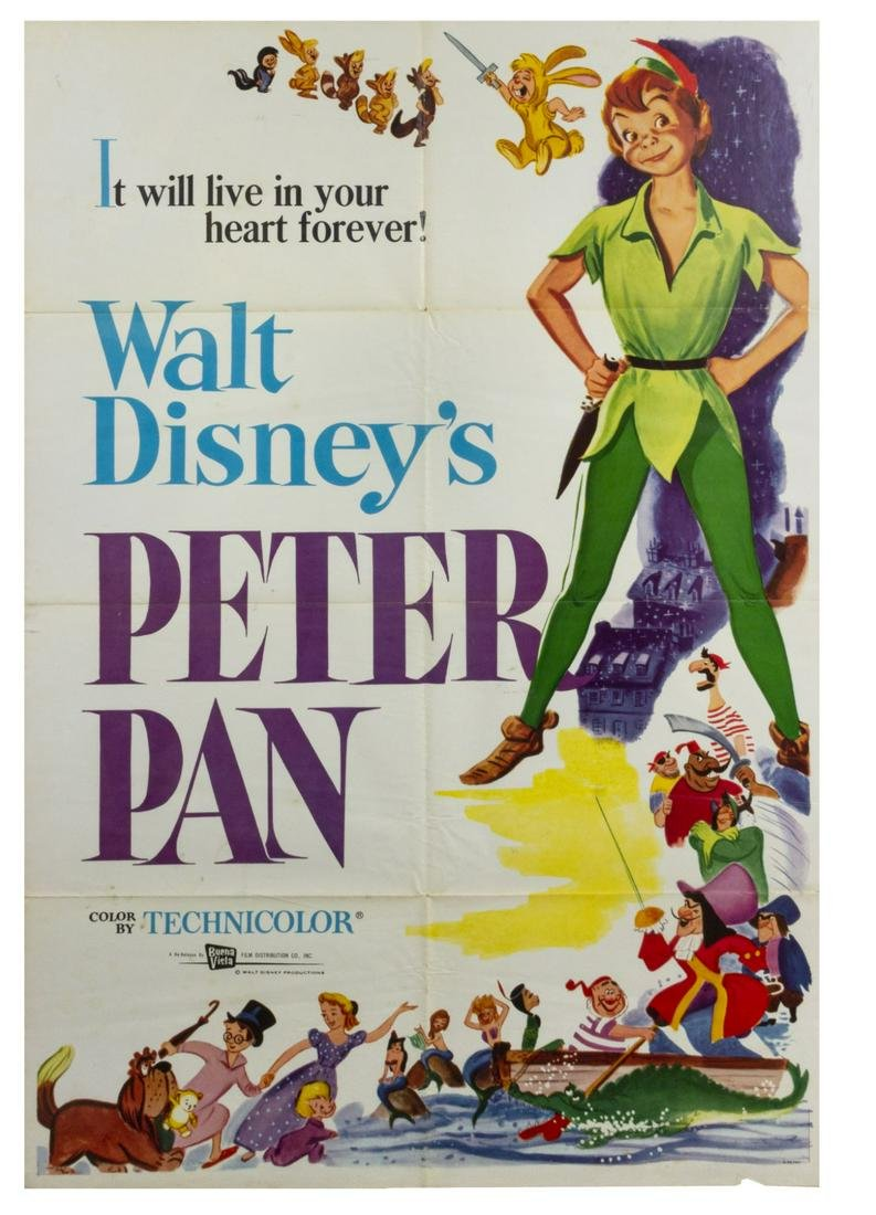 Peter Pan Re-Release Movie Poster.