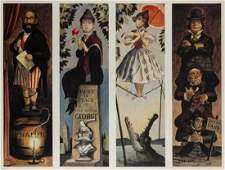 Haunted Mansion Stretching Portraits Signed Print.
