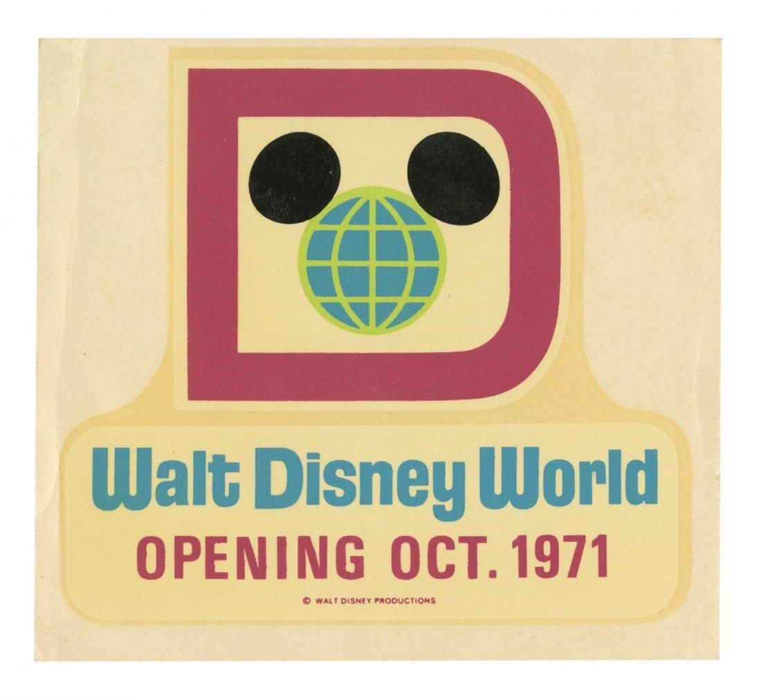 Walt Disney World Pre-Opening Decal.