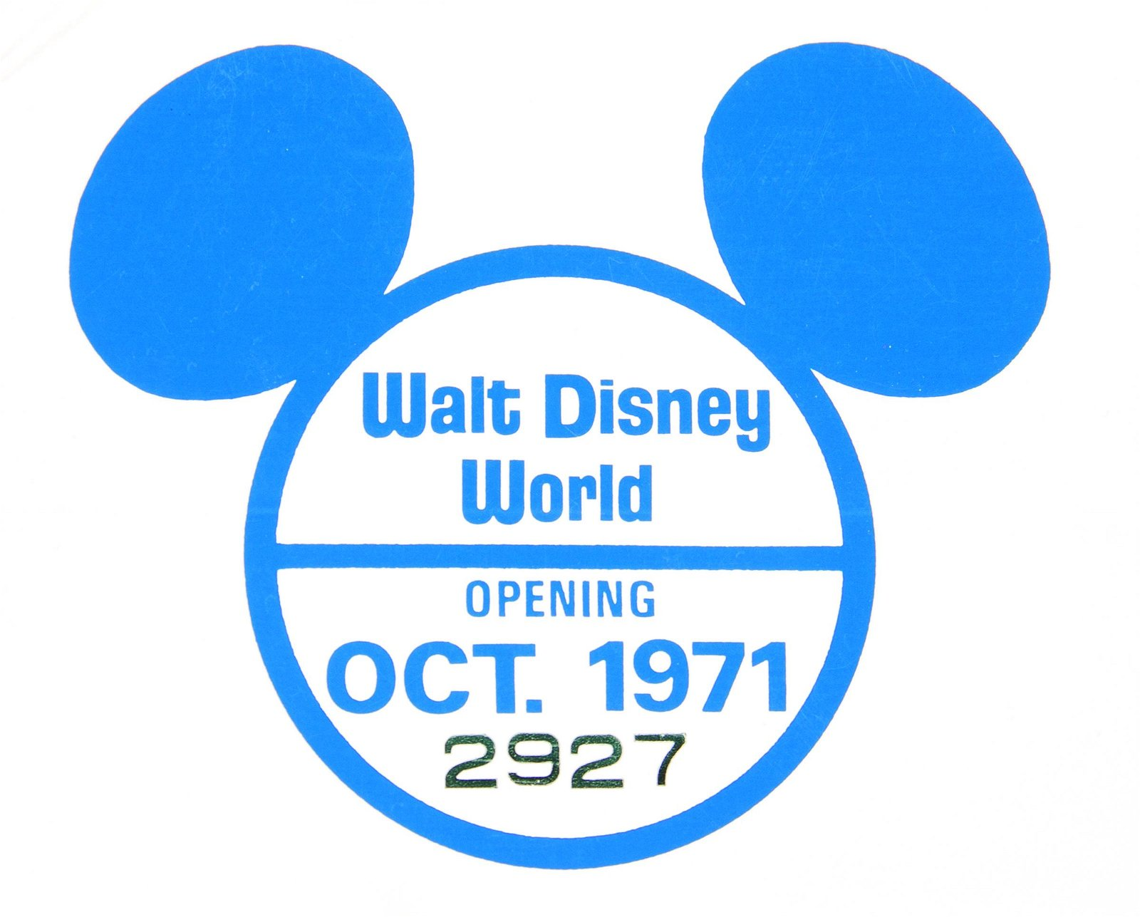 Walt Disney World Pre-Opening Sticker.