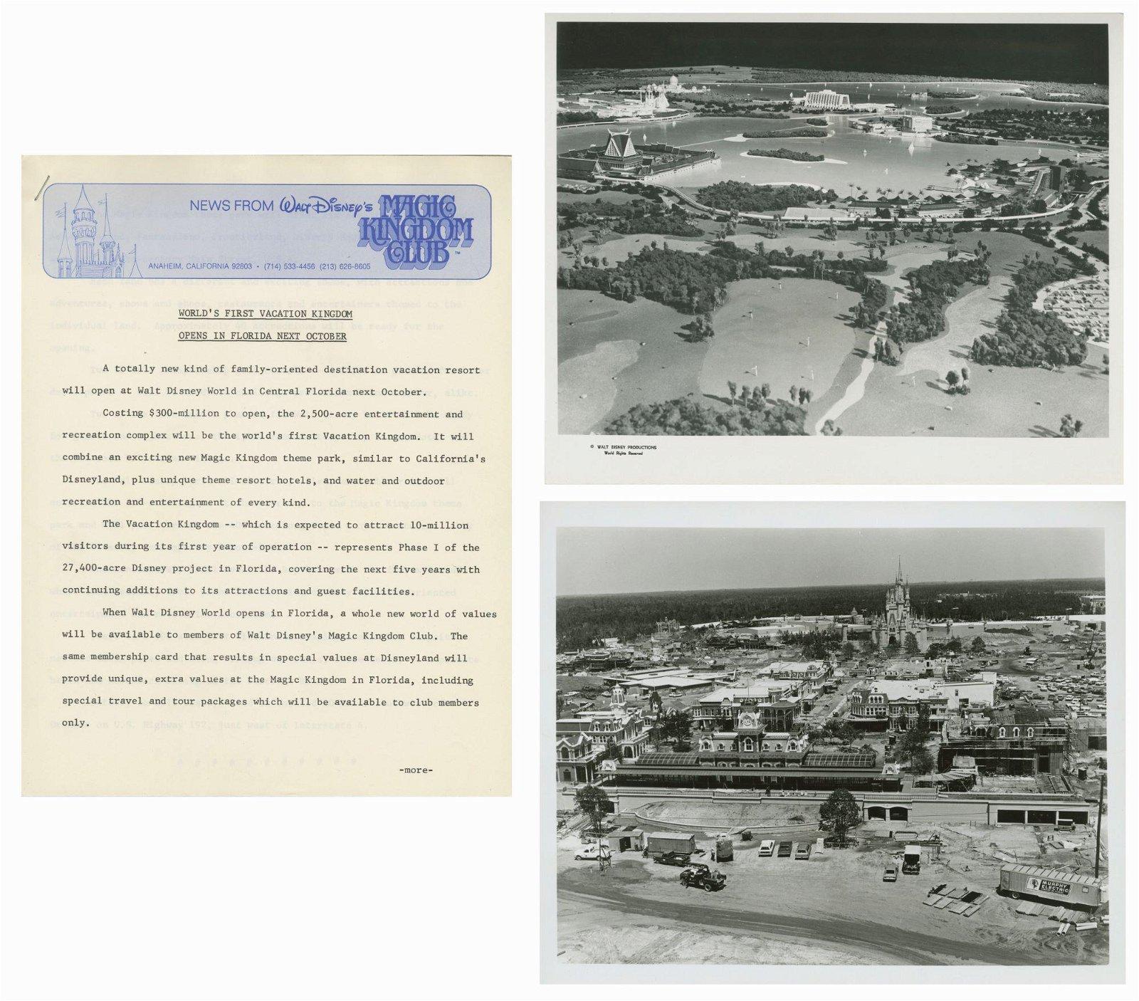 Walt Disney World Pre-Opening Press Release.