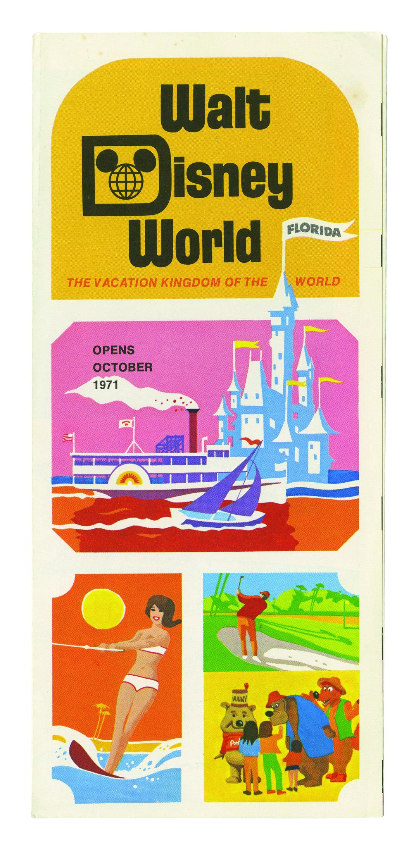 Signed Walt Disney World Pre-Opening Brochure.