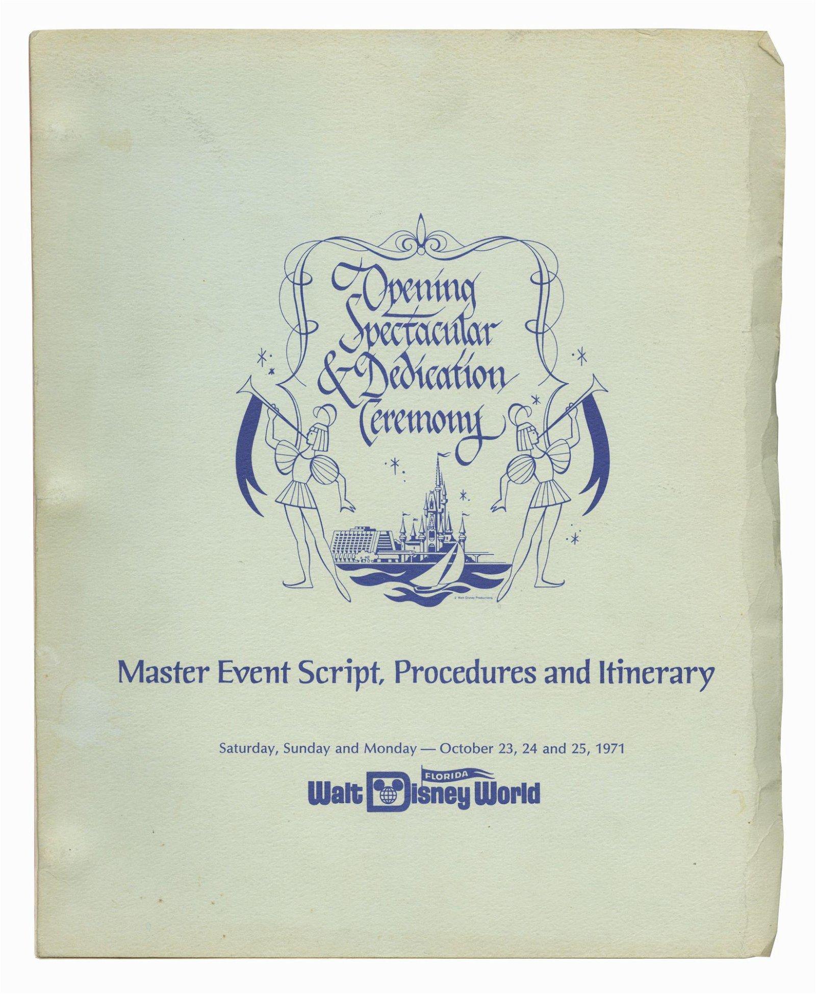 Grand Opening Spectacular Master Event Script.