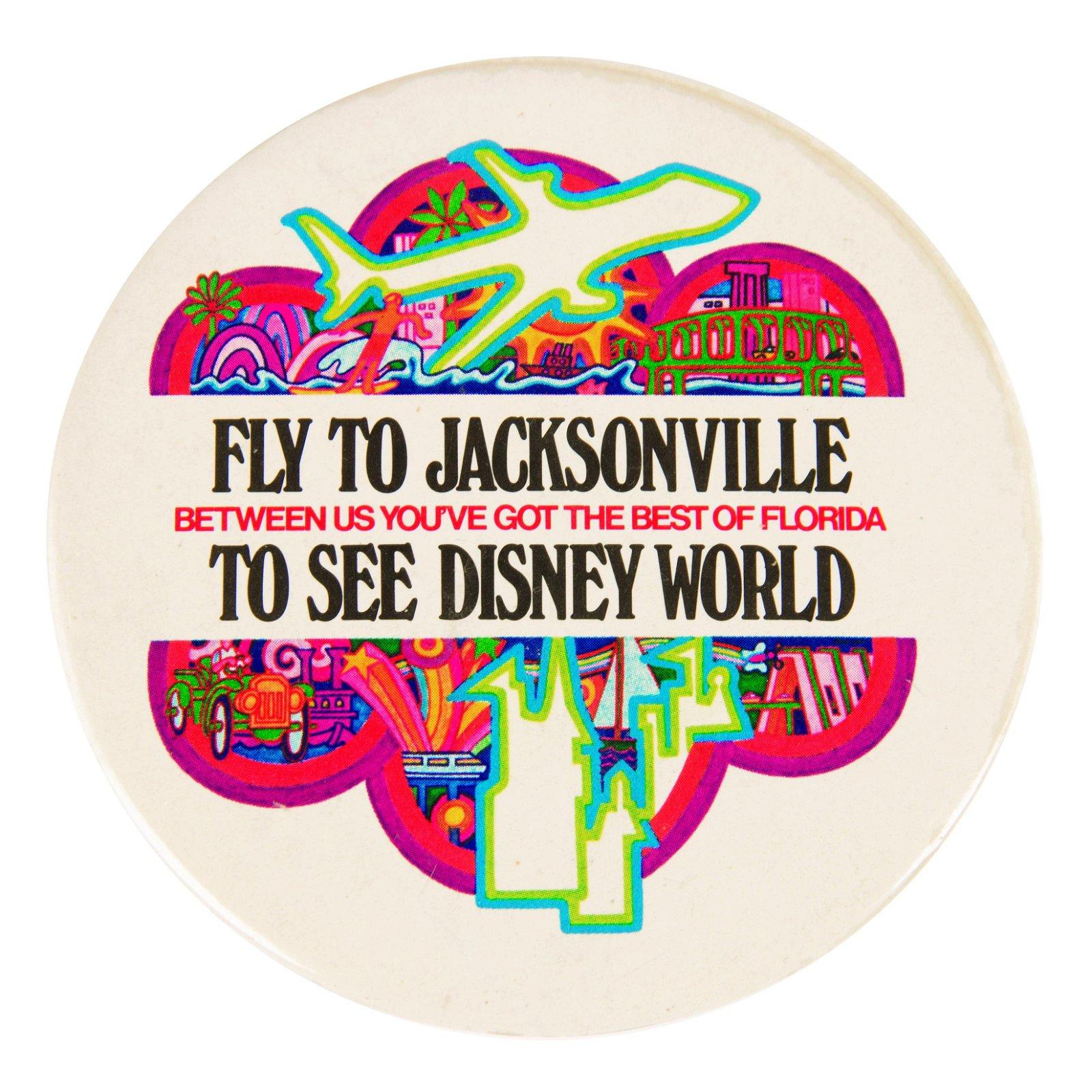Walt Disney World Airline Promo Button.