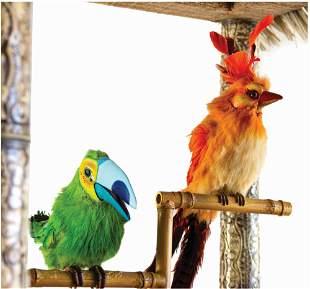 Original Functioning Pair of Enchanted Tiki Room Birds.