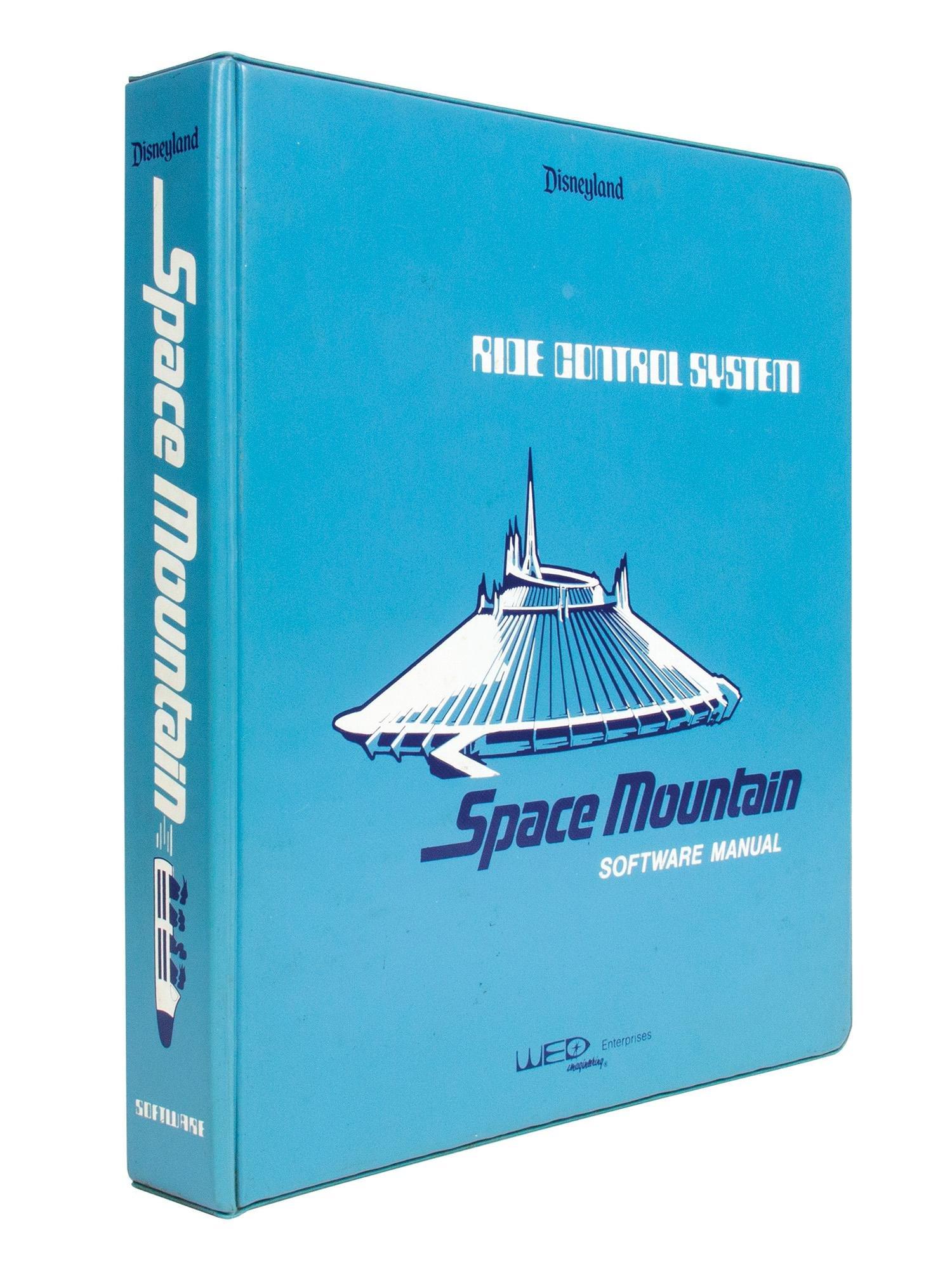 """Space Mountain"" WED Imagineering Manual Binder."