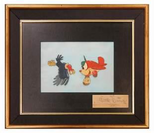 Original Saludos Amigos Cel with Walt Disney Signature.