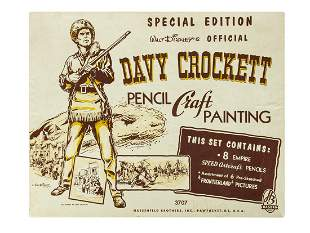 Davy Crockett Pencil Craft Painting Set.