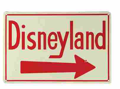 Disneyland Directional Metal Sign.