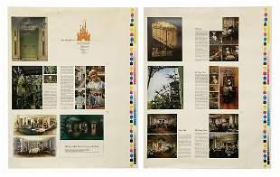 Original Club 33 Sales Brochure Printing Proofs.