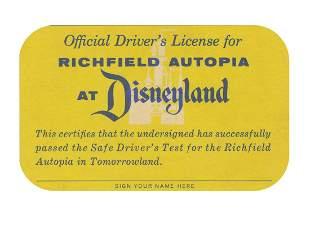 Disneyland Autopia Drivers License