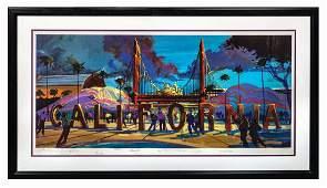 California Adventure Multi-Signed Lithograph.